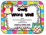 Owls Word Wall