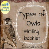 Owls Write and Learn - Cursive Distance Learning