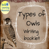 Owls Write and Learn - Print Distance Learning
