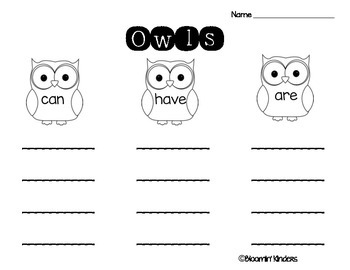 Owls Writing