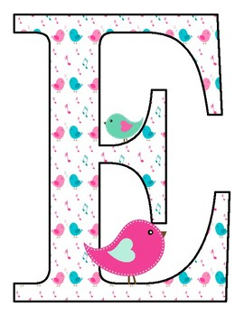 """Owls and Birds Welcome Banner letters 8""""x10"""" size"""