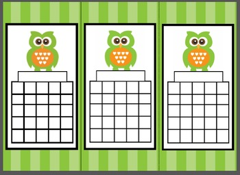 Owls and Bookworm Incentive Chart Bookmarks