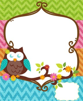 Owls and Burlap Binder Covers and Inserts