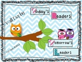Owls and Chevron Bundle with Wall Display, Bus Tags, and D