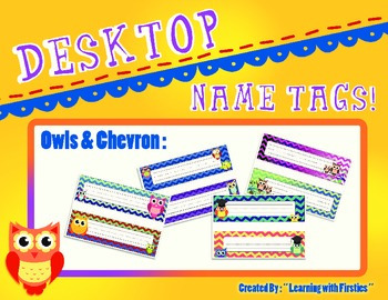Owls and Chevron Name Plates