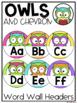 Classroom Decor Bundle in Owls and Chevron