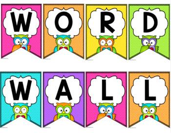 Word Wall {Owls and Chevron Decor Theme}