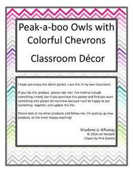 Owl & Chevron Decor