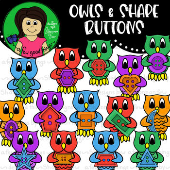 Owls and Shape Buttons