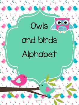 Owls and birds Alphabet