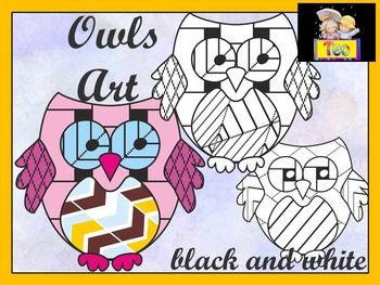 Owls art - Owl Theme - Coloring Activities - Clipart
