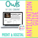 Owls by Gail Gibbons Anticipation Guide