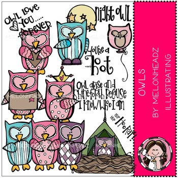 Owls by Melonheadz COMBO PACK