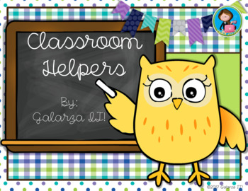 Owls classroom helper job cards (76 jobs in 2 sizes cards)
