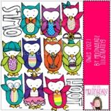 Owls clip art 2021 - COMBO PACK - by Melonheadz Clipart