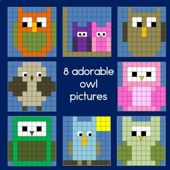 Owls Hundreds Chart Mystery Pictures primary version