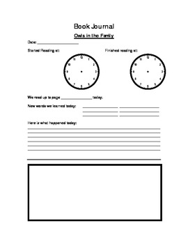 Owls in the Family Chapter summary/ Book Journal