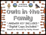 Owls in the Family (Farley Mowat) Novel Study / Comprehension  (26 pages)