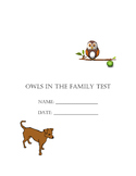 Owls in the Family Test