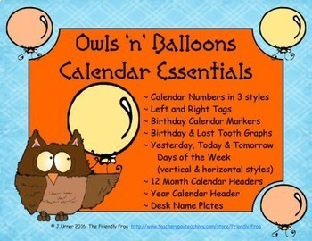 Owls 'n' Balloons Calendar Essentials