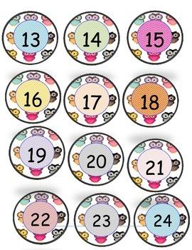 Owls number circles