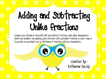 Owls of Adding and Subtracting Unlike Fractions