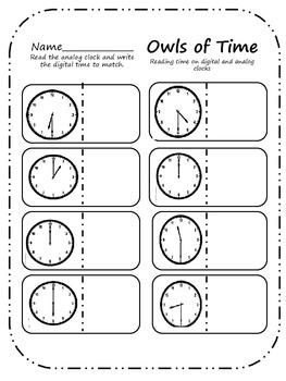 Owls of Math (4 owl themed math centers)