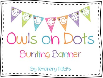 Owls on Dots Bunting Banner