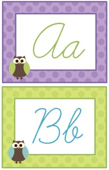 Owls on Dots Cursive 'Owl'phabet