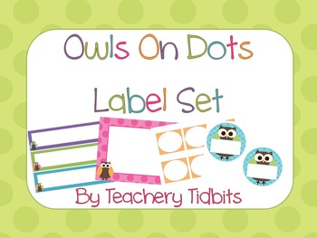 Owls on Dots Label Set