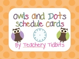 Owls on Dots Schedule Cards