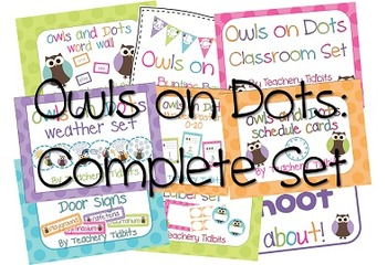 Owls on Dots Classroom: The Complete Set