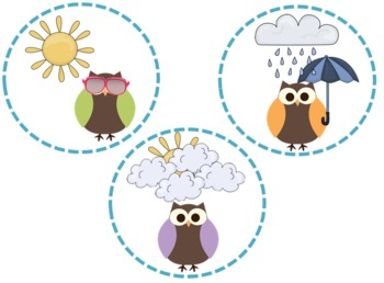 Owls on Dots Weather Set