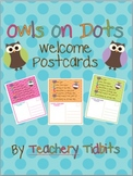 Owls on Dots Welcome Postcards