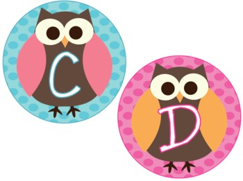 Owls on Dots Word Wall