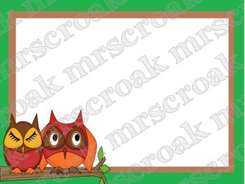 Labels: Owls on a Branch, 10 per page