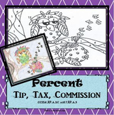 Owls on a Branch %s Coloring Page....Tax, Tip and Commissi