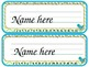 Owls or Chevron Student Name Plates for Desk or Table