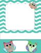 Owls, or No Owls Chevron Cover Set