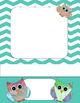 Owls, or No Owls Chevron Cover Set