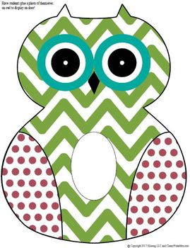 Owls printable activities door theme decor