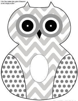 Owls printable activities door theme decor