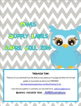 Owls supply labels