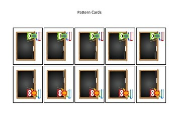 Owls themed Pattern Cards #4 preschool printable activity.  Daycare Curriculum.