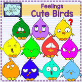 Cute Birds with feelings clipart