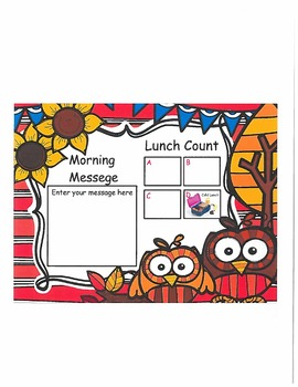 OwlsLunch Count and Morning Message