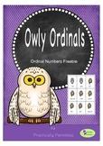 Owly Ordinals - Ordinal Number Freebie