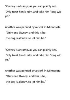 Owney the Postal Dog  Handout