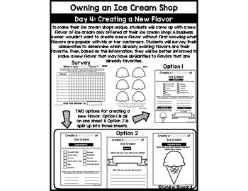 Owning an Ice Cream Shop- Project Based Learning Using 21st Century Skills