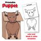 Ox Craft Activity | Paper Bag Puppet Template